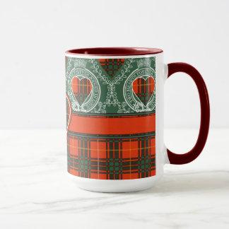 Randolph-Clan karierter schottischer Kilt Tartan Tasse
