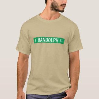Randolph-Straße, Straßenschild Chicagos, IL T-Shirt
