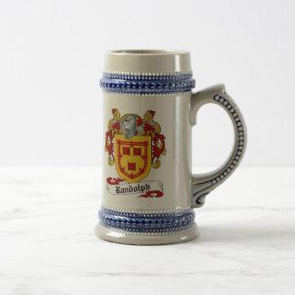 Randolph-Wappen Stein - Familienwappen Bierglas