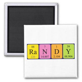 Randy-Periodensystemnamenmagnet Quadratischer Magnet