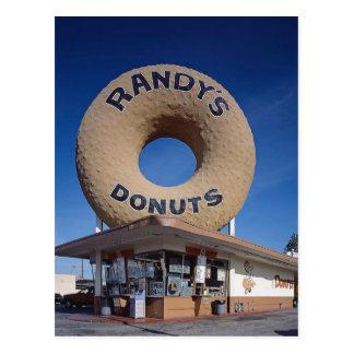 Randys Schaumgummiring-Kalifornien-Architektur Postkarte