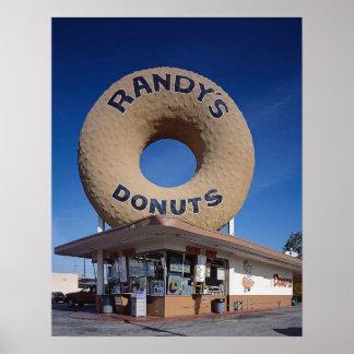 Randys Schaumgummiring-Kalifornien-Mitte des Poster