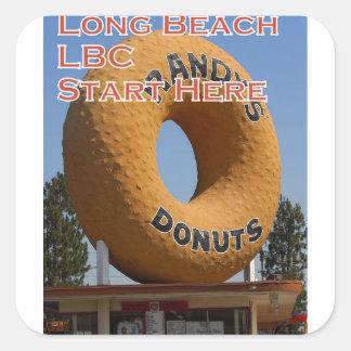 Ransdys Schaumgummiringe Long Beach Kalifornien Quadratischer Aufkleber