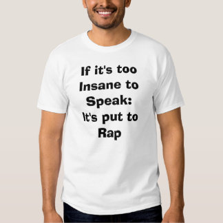 Rap es oben t shirt