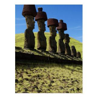 Rapa Nui Artefakte, Osterinsel Postkarte