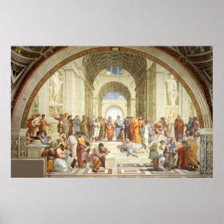 RAPHAEL - Die Schule von Athen 1512 Poster