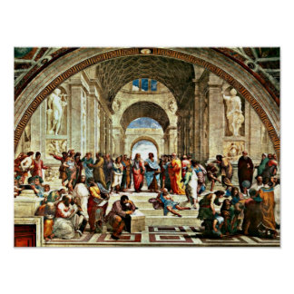 RAPHAEL-Kunst - Schule von Athen - Poster