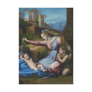 RAPHAEL Sanzio Madonna mit blauem Diadem Leinwanddruck