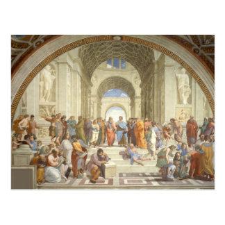 RAPHAEL - Schule von Athen Postkarte