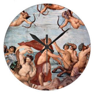 RAPHAEL - Triumph von Galatea 1512 Große Wanduhr