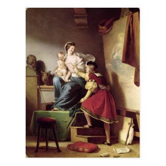 RAPHAEL, welches die Pose seines Modells seins Postkarte
