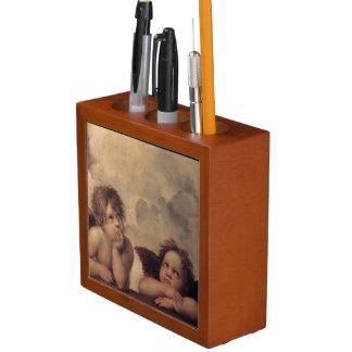 Raphaels Engel, die Schreibtisch-Organisator malen Stifthalter