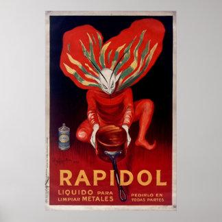 Rapidol, Metallpolnische spanische Werbung Poster