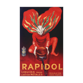 Rapidol, Metallpolnisches spanisches achtgebendes Leinwanddruck