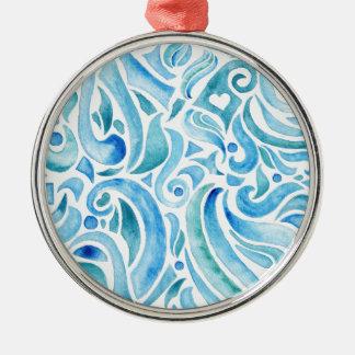 rapport WELLEN 2 Silbernes Ornament