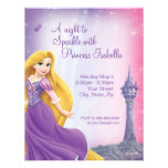 Rapunzel Geburtstags-Einladung