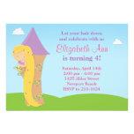 Rapunzel Geburtstags-Party Einladung