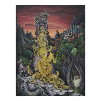 Rapunzel Märchen-Malereidruck Photos