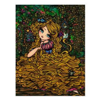 Rapunzel Storybook-Prinzessin Original Art Postkarte