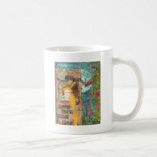 Rapunzel, träumend kaffeetasse