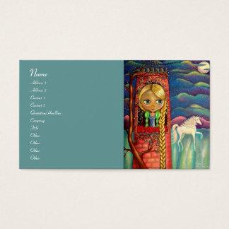 Rapunzel und Einhorn Visitenkarte