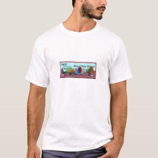 Rare_sea_glass_colors blaues-fuschia Briefmarke T-Shirt