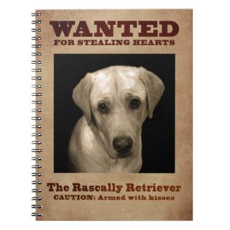 Rascally Retriever, alias gelber Labrador Notizblock