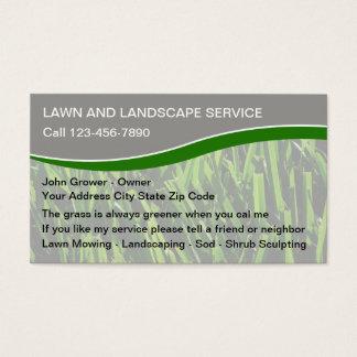 Rasen-Dienstleistungsunternehmen-Karten Visitenkarte