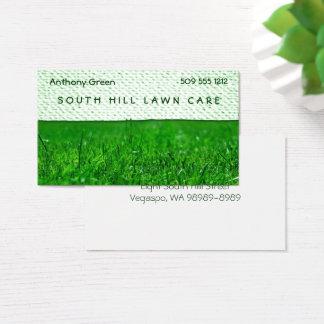 Rasen-Gras-Beschaffenheits-Blick Visitenkarte