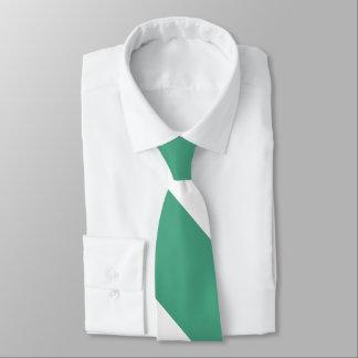 Rasen-grüner und weißer breiter Hochschulstreifen Krawatte