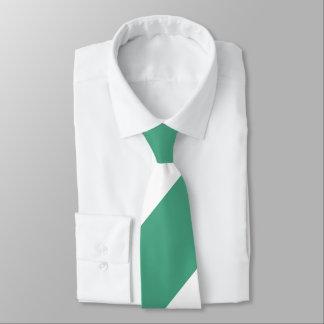 Rasen-grüner und weißer breiter Regimentsstreifen Personalisierte Krawatten