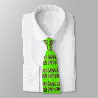 Rasen rollt Logo, die grüne seidige Bindung der Krawatten