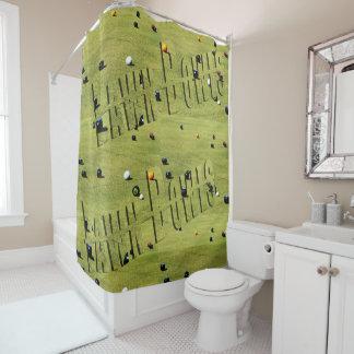 Rasen rollt Spiel und Logo, Duschvorhang