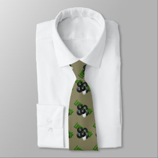 Rasen-Schüsseln und Logo-aquamarine seidige Personalisierte Krawatten
