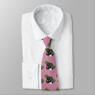 Rasen-Schüsseln und Logo, DustyRose seidige Bedruckte Krawatte