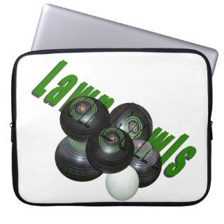 Rasen-Schüsseln und Logo, Laptopschutzhülle
