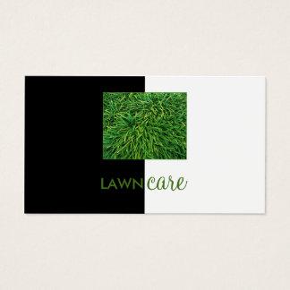 Rasen-Sorgfalt-Ausschnitt-Gras-Schwarz-halbweiße Visitenkarte