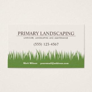 Rasen-Sorgfalt, die Service-Gras landschaftlich Visitenkarte