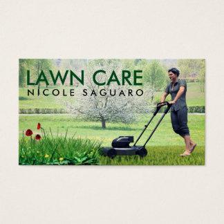 Rasen-Sorgfalt-Gras-Ausschnitt Visitenkarte