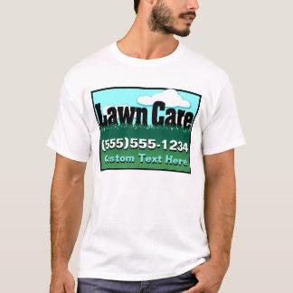 Rasen-Sorgfalt. Mähen. Annoncieren Sie Geschäft. T-Shirt