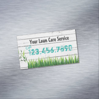 Rasen-Sorgfalt u. Landschaftsgestaltungs-Service Visitenkartenmagnet