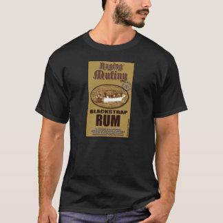 Rasendes Auflehnungs-schwarzes Bügel-Rum-T-Stück T-Shirt