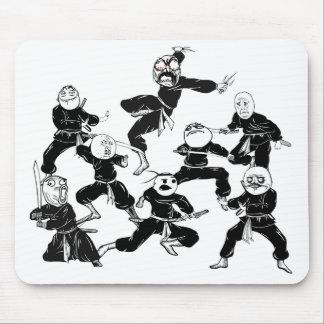 Raserei-Comic Meme stellt Ninja Gruppe Mousepad ge
