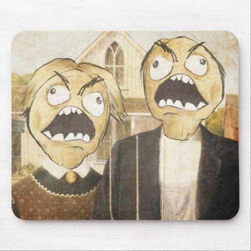 Raserei-Gesicht Meme stellen Comic-noble Malerei g Mousepad