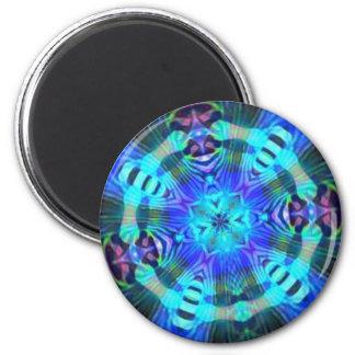 Raserei psychedelisch runder magnet 5,7 cm