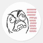 Raserei-Typ fuuu fuuuu Runde Sticker