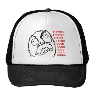 Raserei-Typ verärgertes Fuu Fuuu Raserei-Gesicht Caps