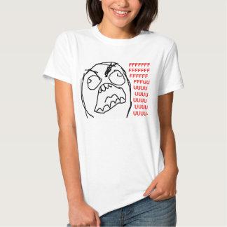 Raserei-Typ verärgertes Fuu Fuuu Raserei-Gesicht Hemden