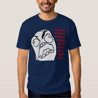 Raserei-Typ verärgertes Fuu Fuuu Raserei-Gesicht M T Shirts