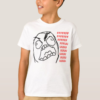 Raserei-Typ verärgertes Fuu Fuuu Raserei-Gesicht Shirt
